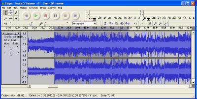 Audacity, the free and open source audio editing software