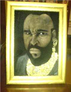 Velvet Painting of Mr. T