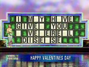 happy valentine's day wheel of fortune puzzle