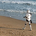 Beach walking Stormtrooper
